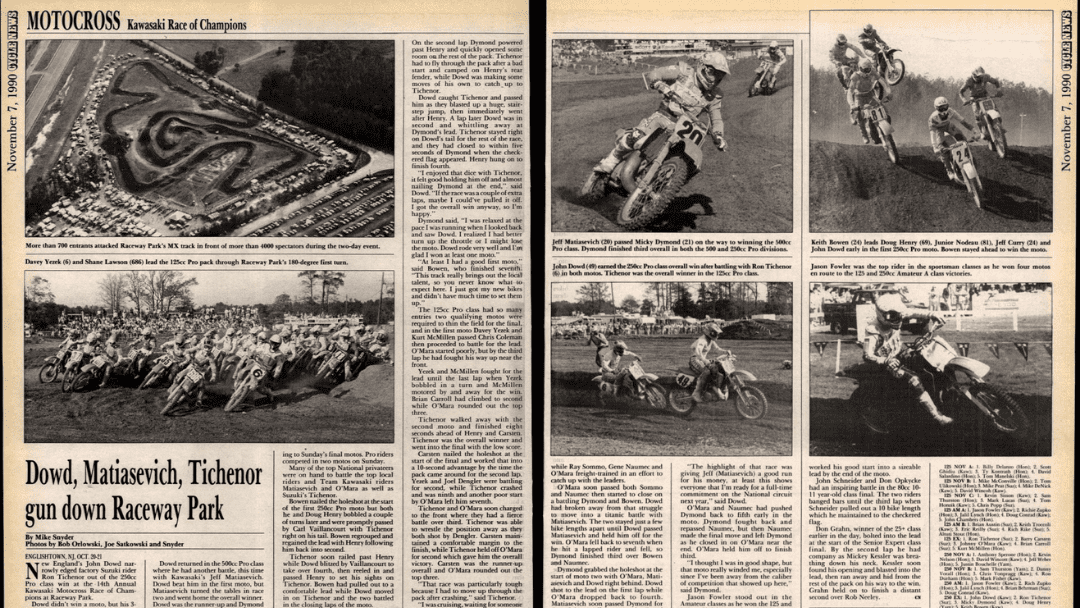 Results Flashback KROC 1990