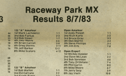 Raceway Park Results from 8/7/83