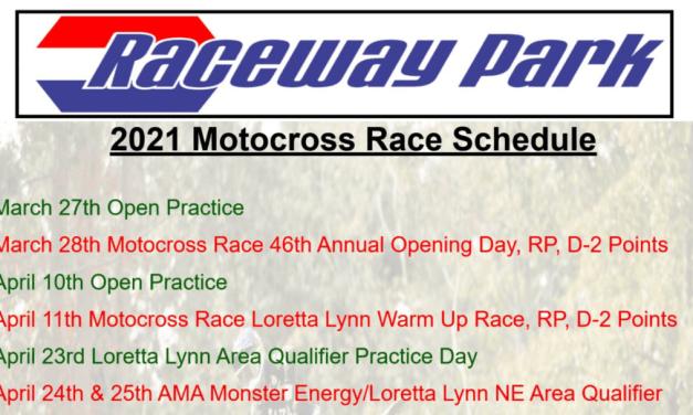 Raceway Park 2021 Race Schedule