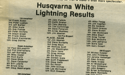 Husqvarna White Lightning Supercross Results – 1983