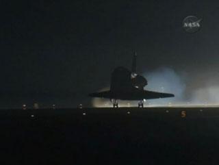Endeavour STS 130 night landing