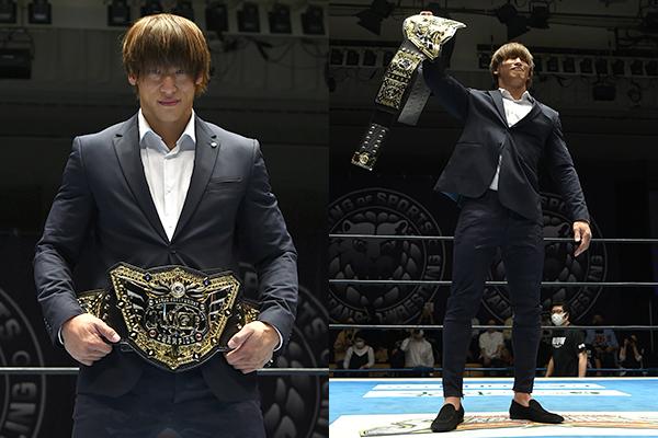 PHOTOS: NJPW reveals new IWGP World Heavyweight Title belt