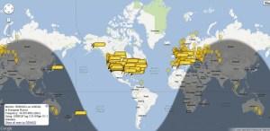 PSKReporter real-time map