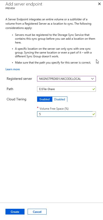 GUIDE TO CONFIGURE AZURE FILE SYNC (PREVIEW) | |