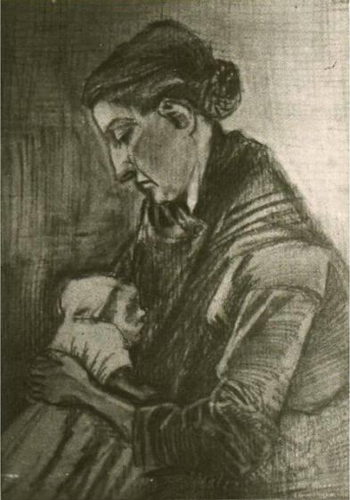 Vincent-van-Gogh-Sien-ve-erkek-cocugu-Willem