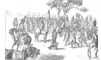 Manuel de Godoy'un Kraliçe için portakal toplatmasını tasvir edildiği resim