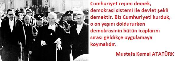29 Ekim Cumhuriyet Bayramı Atatürk Sözleri