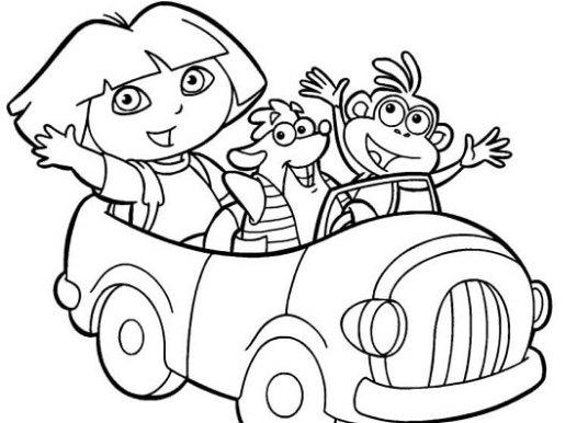 Dora Boyama Sayfaları – Okul Öncesi Çizgi Film Dora Boyama Etkinlikleri