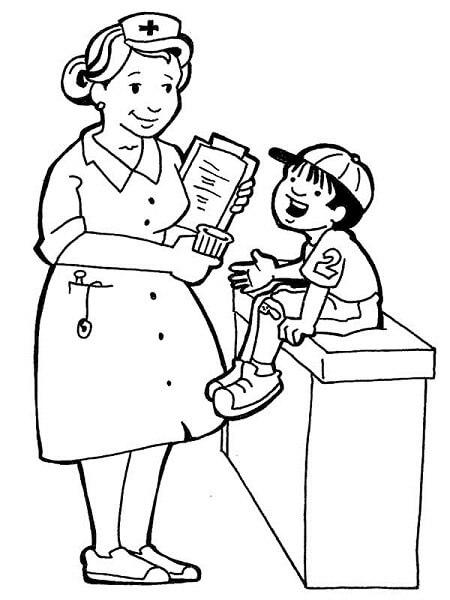 Hemşire boyama sayfası