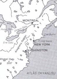Appalaş Dağları Haritası