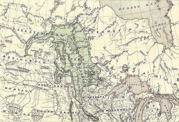Agassiz Gölü Haritası