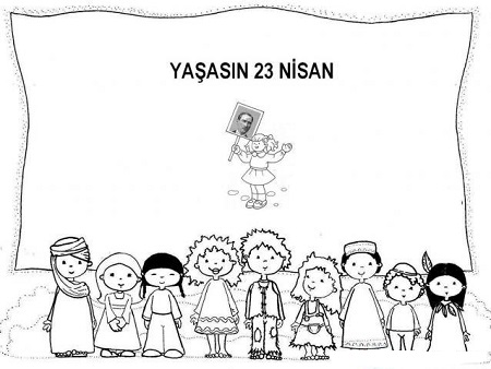 23 Nisan Ulusal Egemenlik Cocuk Bayrami Boyama Sayfalari