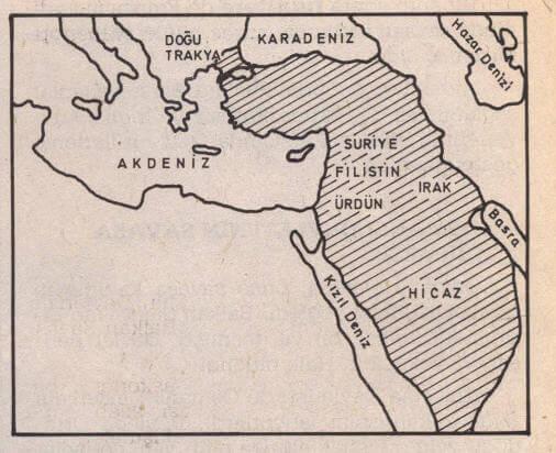 II. Balkan Savaşı'ndan sonra osmanlı Devleti'nin sınırları.