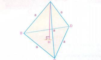 Düzgün Dörtyüzlünün Alan ve Hacim Hesaplaması - Formülü
