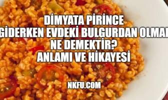 Dimyat'a Pirince Giderken Evdeki Bulgurdan Olmak
