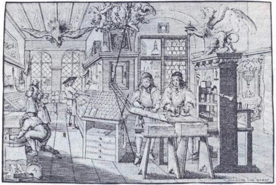 Ahşap cenderenin kullanıldığı eski bir basımevi