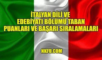 İtalyan Dili ve Edebiyatı