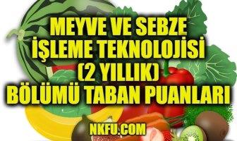 Meyve ve Sebze İşleme Teknolojisi