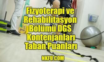 Fizyoterapi ve Rehabilitasyon Bölümü DGS Taban Puanları