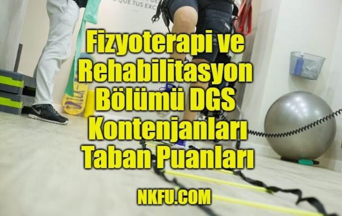 Fizyoterapi ve Rehabilitasyon Bölümü DGS