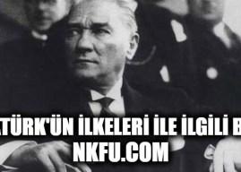 Atatürk İlkeleri İle İlgili Bilgi