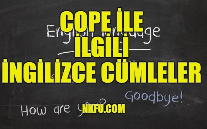 Cope ile ilgili ingilizce cümleler
