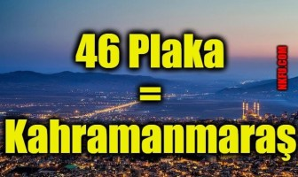 46 Plaka Kahramanmaraş