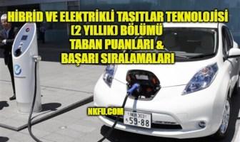 Hibrid ve Elektrikli Taşıtlar Teknolojisi Taban Puanları