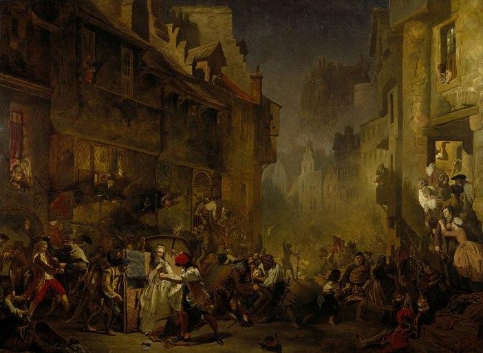 1855 yılında James Drummond tarafından yapılmış Porteous Çeteleri isimli tablo