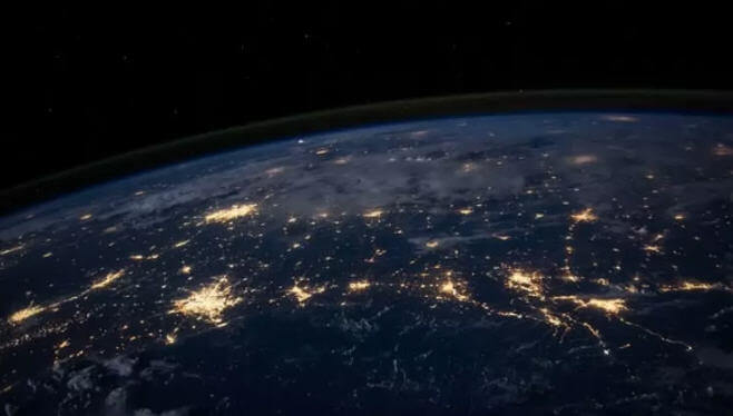 Gece şehir ışıkları