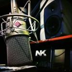 nk studio neumann microphone genelec monitor