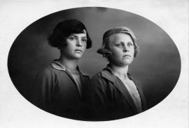 Portrait of unknown girls by photographer Herman Vreugde who ran his studio named 'Foto Rembrandt' at Bloemenmarkt nr 7 in Roosendaal, the Netherlands in the 1930s.
