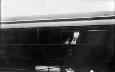 Anonymous photographer, Queen Wilhelmina and princess Juliana in the royal train. The Netherlands, early 20th century.