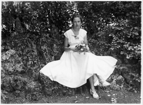 Anonymous photographer and bride, the Netherlands, 1950s.