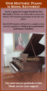 Jim McGrath donation for piano restoration