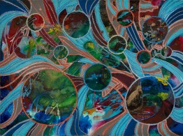 Space Rhythms Jo Ann Durham Ft Wort Branch, TX Acrylic and Encaustic