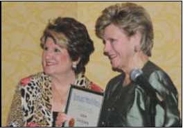 Candace presents honorary membership to Cokie Roberts