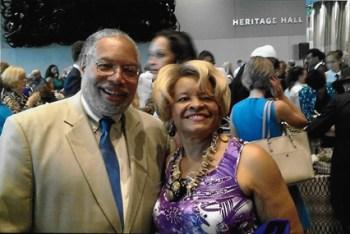Charlene Hampton-Holloway and Lonnie Bunch III