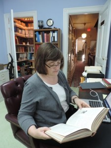 Professor Marian Wilson Kimber researching at Pen Arts