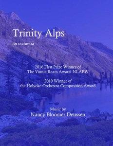 "Cover of ""Trinity Alps for orchestra"" composed by Nancy Bloomer Deussen"