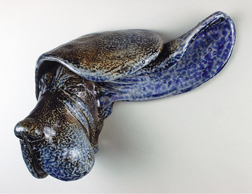 Basset sculpture