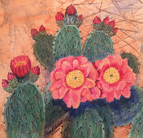 """Cactus Flower"" by Pam E. Webb"