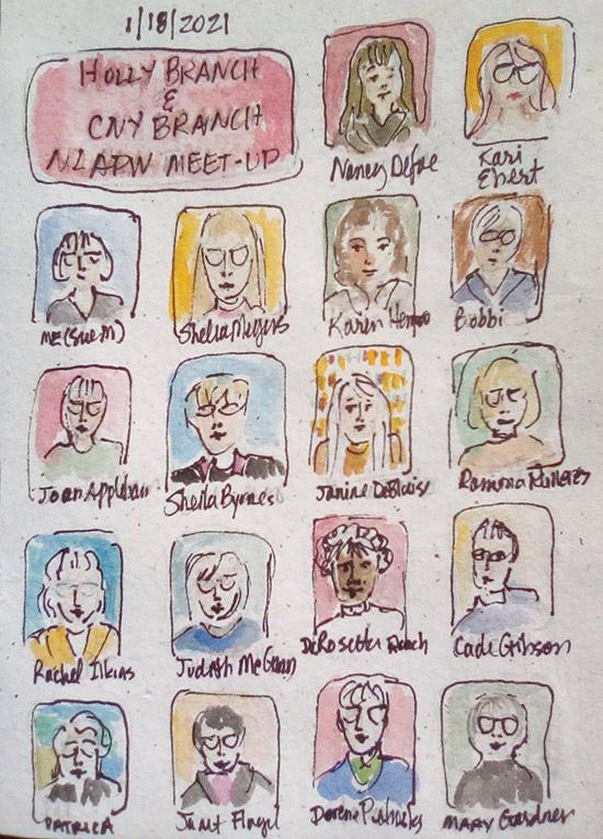 meeting sketch of members