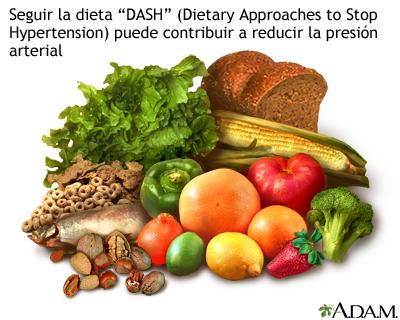 Dieta DASH: MedlinePlus enciclopedia médica illustración