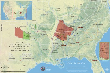 Chickasaw Are Removed To Indian Territory