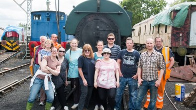 Nationwide Building Society and N&LR volunteers on the 17th of June 2015. Photo: John Bannister