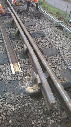 Permanent Way work party Sunday 7th February 2016: Fitting New Check Rails at Pitsford Sidings