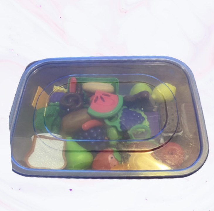 Toy organization using clear plastic containers