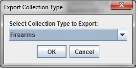 Select Collection Type to Export