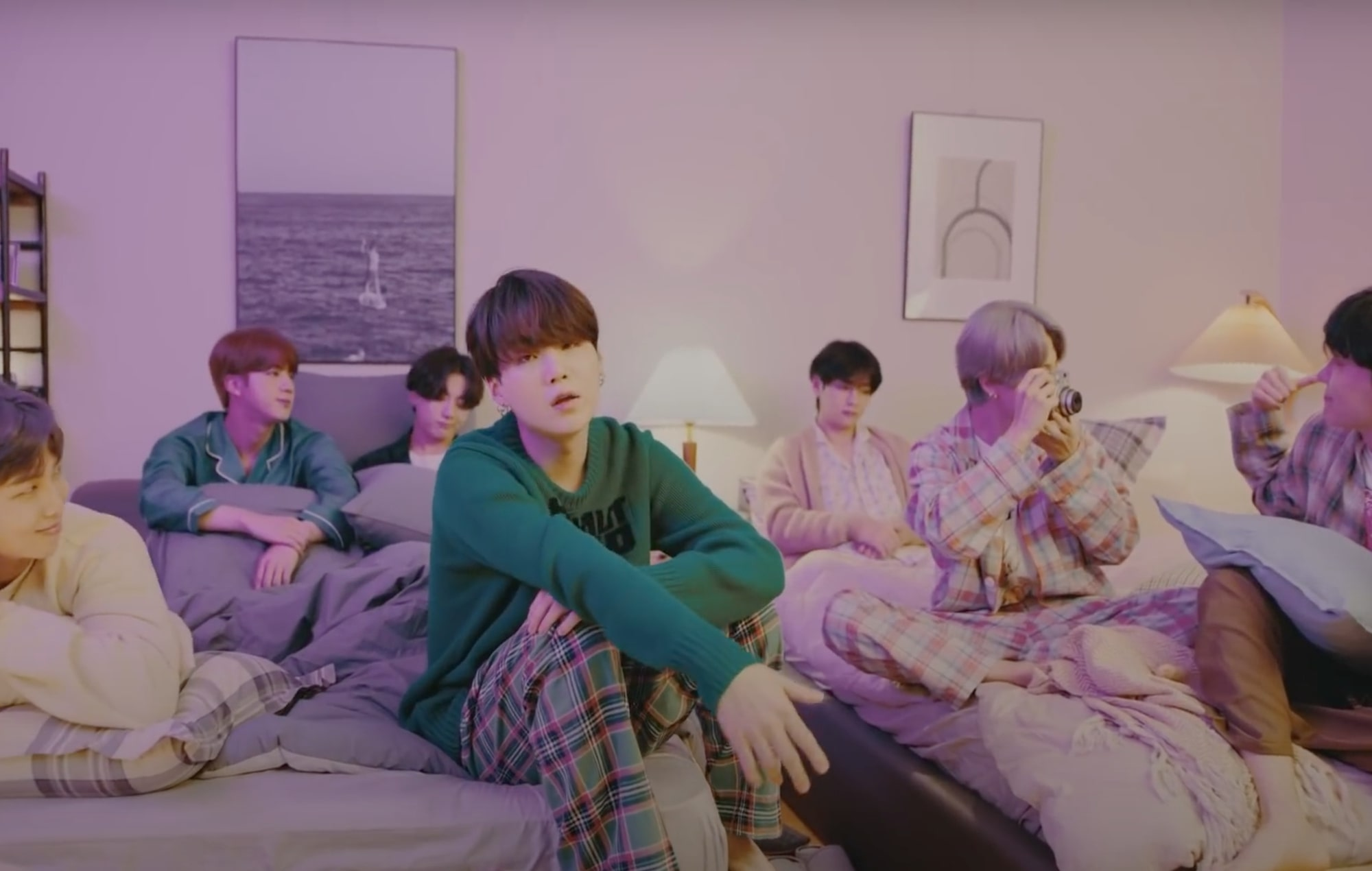 bts get cosy in new on my pillow